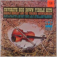 HAROLD HENSLEY & VIRGINIA MOUNTAINEERS: Favorite Fiddle BLUEGRASS LP