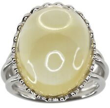 Citrine Gemstone 22 carat Cocktail Sterling Silver Ring size O