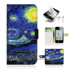 ( For iPhone 5C ) Wallet Case Cover! Van Gogh Starry Night P0066
