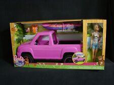 Barbie Camping Fun Pickup Truck Kayak Vehicle Adventure Playset Blonde Doll New