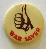War Saver WW2 WWII Authentic Military Button Badge Pin Rare Vintage (F7)