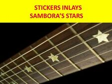 STICKER INLAY SAMBORA STARS SILVER FRET MARKERS VISIT OUR STORE WITH MORE MODELS