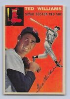 "1954  TED WILLIAMS - Topps ""REPRINT"" Baseball Card # 1 - BOSTON RED SOX"