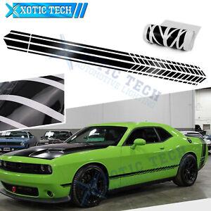 Black Side Body Door Sport Race Graphics Sticker For Dodge Challenger Charger