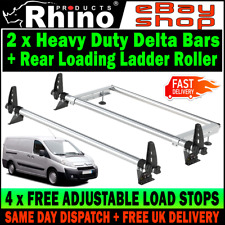 (H1 Twin Rear) Toyota ProAce Roof Rack Bars x2 and Roller Rhino 2013-2016 Van
