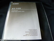 Yamaha RX-V450 Owner's Manual  Operating Instruction   New