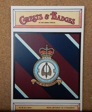Royal Air force No 10 Squadron Crests & Badges of  the Armed services Postcard
