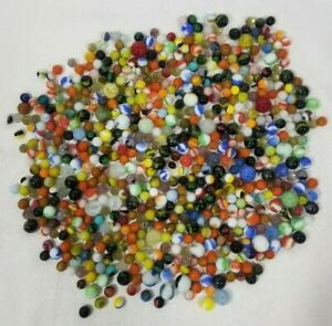 Lg MIXED LOT OVER 550 7+ LBS MARBLES Jabo Marble King Vitro Agate Swirls Cat Eye