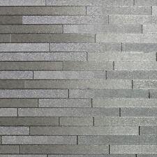 FOIL SLATE WALLPAPER METALLIC VINYL - SILVER 294600 - ARTHOUSE