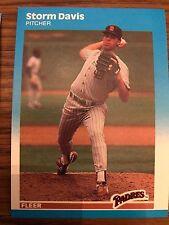 1987 Fleer Update Storm Davis San Diego Padres u-22