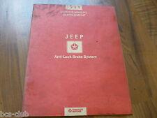 #J064 JEEP ALLE MODELLE 1989 mit ABS Ergänzung Supplement WERKSTATT HANDBUCH
