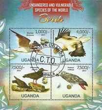 Timbres Oiseaux Ouganda 2526/9 o année 2013 lot 13467 - cote : 23 €