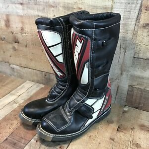 Used Vintage O'neal Elements Motocross Boots Size 11 Black/red/white