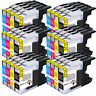 24 pack Ink cartridge LC71 LC75 LC79 6-Set For Brother MFC-J835DW J955DN J430W