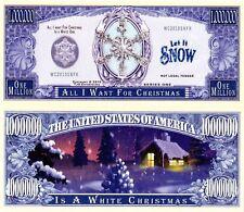 USA 'White Christmas' 1 Million $ banknote - Celebrations Series - UNC & CRISP