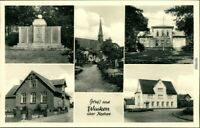 Ansichtskarte Wacken Denkmal, Kirche, Häuser, Straße 1950