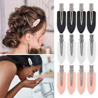 4pcs No Bend Seamless Hair Bangs Clips Women Fix Fringe Hairpins Barrette