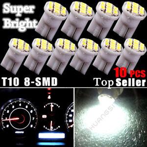 10PC Super White T10 LED Bulb Car Instrument Panel Cluster Dash Light Kit