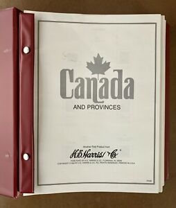 Canada and Provinces Stamp Album 1851-2004 H.E. Harris Binder Pages - No Stamps