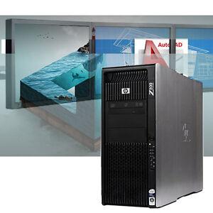 HP Z800 Powerful CAD Workstation 32GB RAM Autodesk/ Adobe Modeling/ Rendering