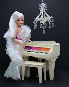 Vintsge Barbie Crystal Barbie Gown And Shawl No Doll Or Piano