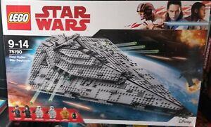 LEGO STAR WARS-75190-FIRST ORDER STAR DESTROYER-  MAGNIFIQUE !!! NEUF