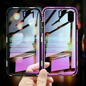 Luxury Magnet Shockproof Clear Back Case Cover For iPhone 7 7+ 8 X XS XR XS MAX