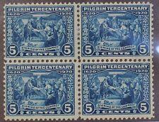 Scott 550 - 5 Cents Pilgrim Tercentenary - OG MH - Block Of 4 - SCV - $140.00