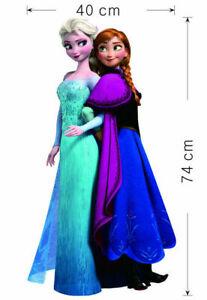Frozen Anna & Elsa children's nursery wall sticker Decor Large childrens girls