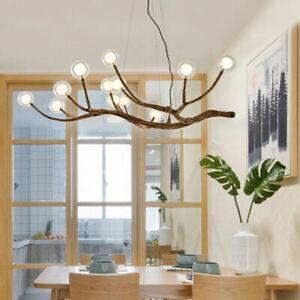 Industrial Vintage Wooden Branch Pendant Lamp Chandelier Ceiling Light Fixtures