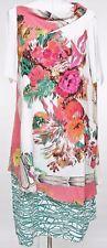 ANTONIO MARRAS Dress Short Sleeve Silk Multi-Color Floral Sz 46