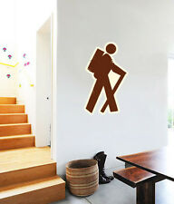 "Hiker Hiking Wall Decal Large Vinyl Sticker 25"" x 15"""