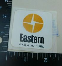 Eastern Gas and Fuel Coal Miner Mining Hard Hat Decal Sticker Vintage