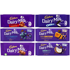 Cadbury Dairy Milk Chocolate Fruit Nut Oreo HoneyComb Coconutty Bar Sweet Lover