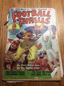 1951 Ziff-Davis Football Thrills #1 Red Grange comic.