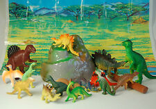 18 PEZZI JUMBO Dinosauro Playset giocattolo animali ACTION FIGURE SERIE T REX TRICERATOPO