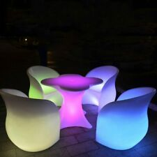 LED Colorful Chair Rechargeable Glowing Modern Seat Luminous Barstool Sofa Salon