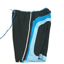 NIKE Mens Swim Trunks Size XXL 2XL Blue Retro Lined Shorts Swimsuit Adult Swim