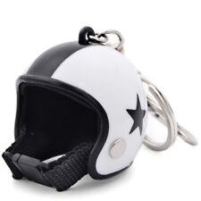 Motorcycle Helmet Key Ring Chain Car Handbags Bike Toy Keychains White Star Type