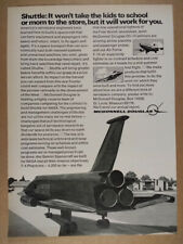 1972 McDonnell Douglas NASA Shuttle Contract Competition vintage print Ad