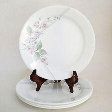 "Set of 4 Corelle Salad Plates Veranda 7.25"" Corning Pink Dogwood Flowers Spring"