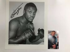 SMOKIN JOE FRAZIER Autographed 8x10 PHOTO AUTHENTIC SIGNED +BONUS BUSINESS CARD
