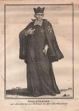 RELIGIOSO KREUZTRAGER CRUCIFER  Incisione Originale 1700