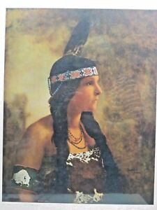 Vintage Native American Woman Falling Arrow Print by F.W. Glasier