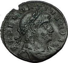 DELMATIUS 337AD Thessalonica Authentic Ancient Roman Coin LEGION SOLDIERS i65543