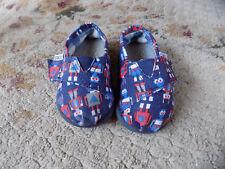 Toms Tiny Classics Navy Blue w robots Infant Toddler Baby Canvas Shoes Sz 3 Cute