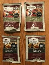 Food Supply Storage Wise Co. 4 Meals 4 servings each Freeze Dried MRE