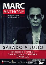 MARC ANTHONY 2016 SPAIN CONCERT TOUR POSTER - Latin, Salsa, Freestyle Music