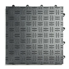 GRAPHITE - 30 Pack -Diamond  GarageTrac Garage Floor Tile MADE IN THE USA