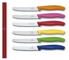 Victorinox: pack 6 couteaux table couleur fil denté 6.7333 (swiss made)
